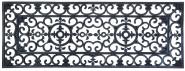 Esschert Design Schmutzfangmatte, Fußmatte in schwarz aus Gummi, rechteckig, Größe XL, extra breit, ca. 120 cm x 45 cm