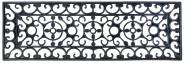Esschert Design Schmutzfangmatte, Fußmatte in schwarz aus Gummi, rechteckig, Größe XS, ca. 75 cm x 25 cm