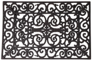 Esschert Design Schmutzfangmatte, Fußmatte in schwarz aus Gummi, rechteckig, Größe L, ca. 70 cm x 40 cm