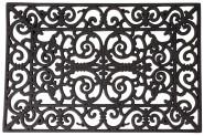 Esschert Design Schmutzfangmatte, Fußmatte in schwarz aus Gummi, rechteckig, Größe S, ca. 60 cm x 40 cm