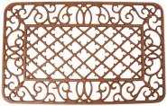 Esschert Design Schmutzfangmatte, Fußmatte mit Motiv Rauten aus Gusseisen, rechteckig, ca. 67 cm x 42 cm