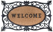 """Esschert Design Schmutzfangmatte, Fußmatte mit Motiv """"Welcome"""" in schwarz mit Kokoseinlage, ca. 75 cm x 45 cm"""