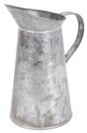 Esschert Design Schnabelkanne, Wasserkanne in grau aus verzinktem Metall, ca. 19 cm x 12 cm x 20 cm