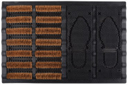 Esschert Design Schuhbürste aus Gummi und Kokosfaser, 60,0 x 40,0 x 3,6 cm