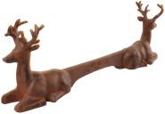 Esschert Design Schuhschaber, Fußabstreifer Motiv Hirsche aus Gusseisen, ca. 42 cm x 8,2 cm x 14 cm