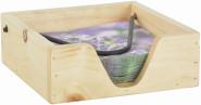 """Esschert Design Serviettenhalter, aus dem Material """"Kiefernholz"""", 19,5 x 19,5 x 7,0 cm"""