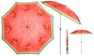 Esschert Design Sonnenschirm in Melone Motiv, Ø 184 x 226 cm, Stahlstiel/Kunststoffteile/Polyesterschirm