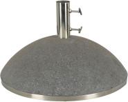"""Esschert Design Sonnenschirmständer, Sonnenschirmfuß """"granito"""" in schwarz, 43,9 kg, Ø Rohr innen: 5,1 cm, Fuß Ø ca. 50 cm"""
