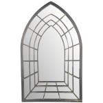Esschert Design Spiegel Trompe-l'oeil gothische Form aus Metall und Glas, 51,2 x 2,0 x 82,5