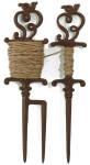 Esschert Design Stecker aus Gusseisen mit Pflanzleine, Länge der Leine ca. 25 m, ca. 14 cm x 6 cm x 35 cm