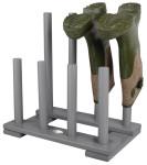 Esschert Design Stiefelhalter, Schuhablage aus Holz in grau, ca. 42 cm x 26 cm x 42 cm