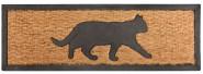 """Esschert Design Stufenfußmatte, Türmatte Motiv """"Katze"""", aus Gummi mit Kokoseinlage"""