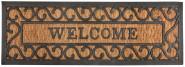 """Esschert Design Stufenfußmatte, Türmatte Motiv """"Welcome"""", aus Gummi mit Kokoseinlage"""