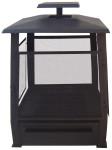 Esschert Design Terrassenofen, Feuerstelle Pagode mit Gitter, aus Gusseisen, ca. 59 cm x 59 cm x 78 cm
