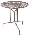 Esschert Design Tisch aus Metall, 70 x 70 x 70 cm, klappbar, in klassischer Optik, sehr stabil