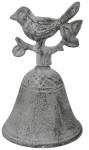 Esschert Design Tischglocke, Tischklingel mit Vogel, ca. 7,7 cm x 7,7 cm x 12 cm