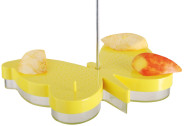 2 Stück Esschert Design Tränke, Futterstation für Schmetterlinge aus Kunststoff mit Haken zum Aufhängen, ca. 23 cm x 17 cm x 5 cm