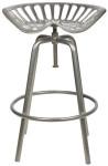 Esschert Design Traktorsitz, Gartenstuhl, Traktorstuhl, in grau, aus Gusseisen und Stahl, 50,0 x 46,5 x 69,7 cm
