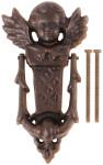 Esschert Design Türklopfer mit Motiv Engel aus Gusseisen, ca. 11 cm x 3,9 cm x 20 cm