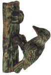 Esschert Design Türklopfer mit Motiv Specht aus Gusseisen, ca. 5,2 cm x 11 cm x 16 cm