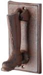 Esschert Design Türklopfer mit Stiefelmotiv aus rötlichem Gusseisen, antik wirkend, ca. 8,4 cm x 9,5 cm x 16 cm