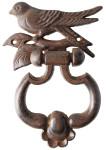 Esschert Design Türklopfer mit Vogelmotiv aus Gusseisen, ca. 13 cm x 18 cm