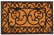 Esschert Design Türmatte aus Gummi, mit Kokos Auflage, Fußmatte, Fußabtreter, Türvorleger, Maße ca. 60 x 40 cm