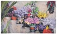 """Esschert Design Türmatte """"Blumen auf Treppe"""", Fussabtreter, Schuhmatte, 76 x 45 x 0,5 cm"""