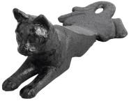 Esschert Design Türstopper, Türpuffer Motiv Katze aus Gusseisen, ca. 17 cm x 8 cm x 6,8 cm