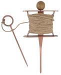 Esschert Design Verkupfertes Pflanzleinen Set, 12 x 5,7 x 27 cm, Juteschnur, 25 m lang, mit Grifföse
