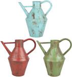 Esschert Design Vintage Gießkanne, ca. 4,7 l, Größe S, Used-Look, farbig sortiert, verzinkter Stahl, 30,9 x 20,3 x 33,8 cm, Gartenwerkzeug
