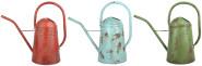 Esschert Design Vintage Gießkanne, ca. 5 l, Größe M, Used-Look, farbig sortiert, verzinkter Stahl, 42,1 x 19,0 x 39,1 cm, Gartenwerkzeug
