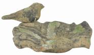 """Esschert Design Vogelbad Moos in der Größe S, aus dem Material """"Terracotta"""", 18,3 x 18,0 x 9,0 cm"""