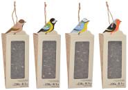 Esschert Design Vogelfutter Hänger Sonnenblumenkerne 230g für Wildvögel 8,2 x 8,1 x 23,7 cm