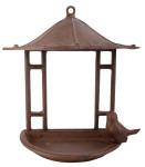 Esschert Design Vogelhaus, Vogelfutterhaus im asiatischen Stil aus Gusseisen, ca. 24 cm x 12 cm x 24 cm