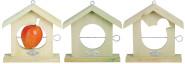 2 Stück Esschert Design Vogelhaus, Vogelfutterhaus mit Dach aus Holz, ca. 19 cm x 5,8 cm x 20 cm