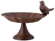 2 Stück Esschert Design Vogeltränke, Vogelbad auf kurzem Fuß, ca. 19 cm x 16 cm x 14 cm