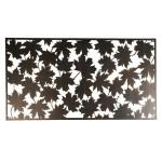 Esschert Design Wanddekoration rechteckig Blätter aus Stahl, 60,2 x 120 x 1,5 cm, Wandelement, Wandobjekt, mit Montagelochungen