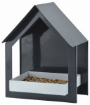 """Esschert Design Wandfutterhaus, in anthrazit/ weiß, aus dem Material """"Metall"""", 19,2 x 12,0 x 23,2 cm"""