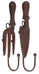 Esschert Design Wandhaken, Gaderobenhaken Motiv Messer oder Gabel, 1 Stück, sortiert, ca. 5,8 cm x 5,5 cm x 21 cm