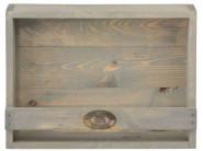 Esschert Design Wandpflanzkasten, 39 x 12 x 29 cm, aus Holz, mit Sicherungsbrett, Blumenkasten, Holzkasten