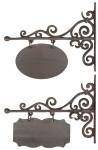 Esschert Design Wandschild, Namensschild, rechteckig oder oval, klein, 1 Stück, sortiert, ca. 32 cm x 3 cm x 26 cm