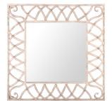 Esschert Design Wandspiegel, Garderobenspiegel im Antik-Design, eckig, ca. 61 cm x 61 cm