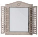 Esschert Design Wandspiegel, Garderobenspiegel mit Fensterläden, 2 Türchen, ca. 47 cm x 62 cm
