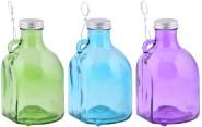 Esschert Design Wandwespenfalle aus Glas, farbig sortiert, 12,7 x 11 x 19 cm, mit Fingergriffloch, Deckel mit Gewinde, in grün/blau/lila