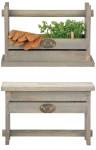 Esschert Design Werkzeughocker/ -kiste, 39 x 18 x 25 cm, aus Holz, mit Griffloch, Holzhocker, Holzkiste