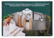 Esschert Design Zimmerpflanzenset für Hauspflanzen, Geräteset bestehend aus: Zerstäuber, Harke, Spaten, Pflanzenschere