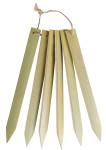 Esschert Pflanzenschilder, Pflanzenstecker, Stecketiketten, Kräuterstecker 6er-Set aus Bambus, ca. 1,8 cm x 20 cm