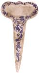 Esschert Pflanzenstecker, Kräuterstecker in blau-weiß aus Keramik, ca. 11 cm x 21 cm