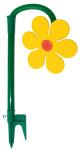 FloraSun Funflower Gartenblume aus Kunststoff, in rot/gelb farbig sortiert